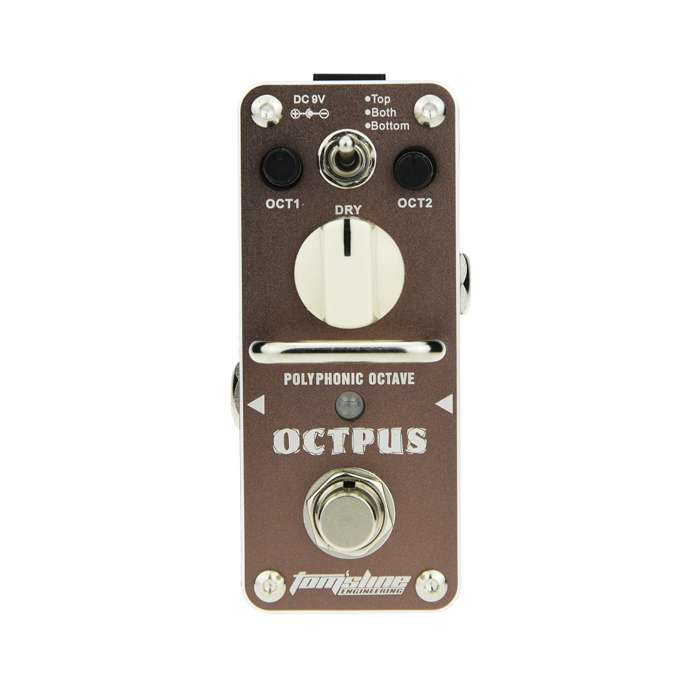 Aroma Octpus Polyphonic Octave Guitar Mini Analogue Effect Pedal AOS-3 True Bypass Dry Controls aroma adr 3 dumbler amp simulator guitar effect pedal mini single pedals with true bypass aluminium alloy guitar accessories
