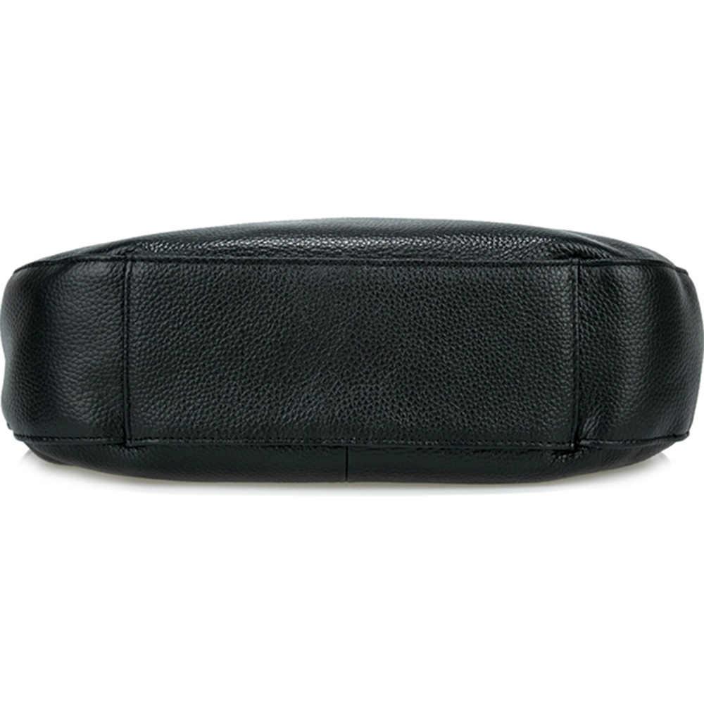 Zency Лидер продаж модная женская сумка на плечо 100% натуральная кожа черная женская сумка высокого качества женская сумка через плечо кошелек