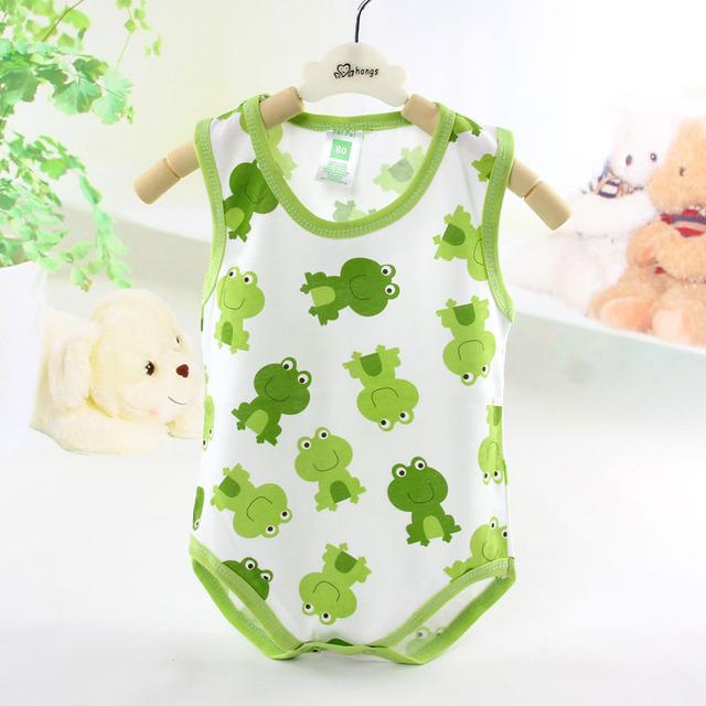 2016 Nova Primavera verão colete bebê recém-nascido macacão de bebê sem mangas saco sleepping roupas macacão de bebê meninas meninos roupas