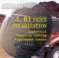 1.61 Indice Asferico Lenti Occhiali Da Sole Polarizzati Grigio Verde Marrone Guida Polarizzazione Ottica Lenti Sottili Superiore Miopia