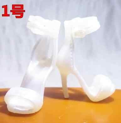 2019 Nguyên Bản 1 đôi CAO gót giày Búp Bê giày Đơn, chân dẹt, giày, dép giày đế bằng cho Búp Bê Barbie 1/6
