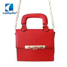 Cathylin 2016 Fashion Women Messenger Bags Leather Women's Shoulder Bag Crossbody Bags Casual Famous Brand Ladies Handbags