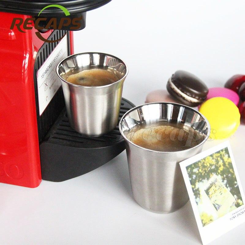 Tasses Nespresso Pixie Espresso En Acier Inoxydable café Nescafé À ...