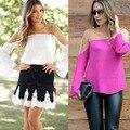 Women Brand Chiffon Blouse Long Sleeve Sheer Organza Chiffon Patchwork Sexy Shirts Fashion Big Yards 3 Color Women Blusa 110346