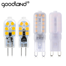 2 sztuk partia G4 G9 LED lampa Mini LED żarówka AC 220V DC 12V SMD2835 Spotlight żyrandol wysokiej jakości oświetlenie wymienić lampy halogenowe tanie tanio goodland Zimny biały (5500-7000 k) Salon DC12V AC220V 250-499 Lumenów 50000 Other Żarówka kukurydzy Epistar ROHS 360 °