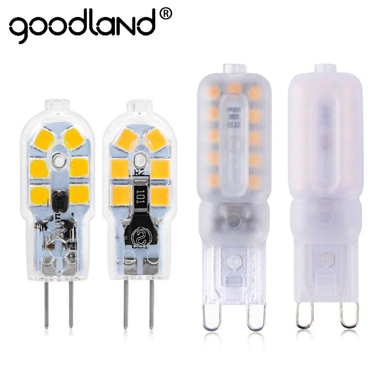 Mini ampoules à lampe à LED G4 G9, AC 220V DC 12V SMD2835 lustre à projecteur éclairage de haute qualité remplacer les lampes halogène 2 pièces/lot