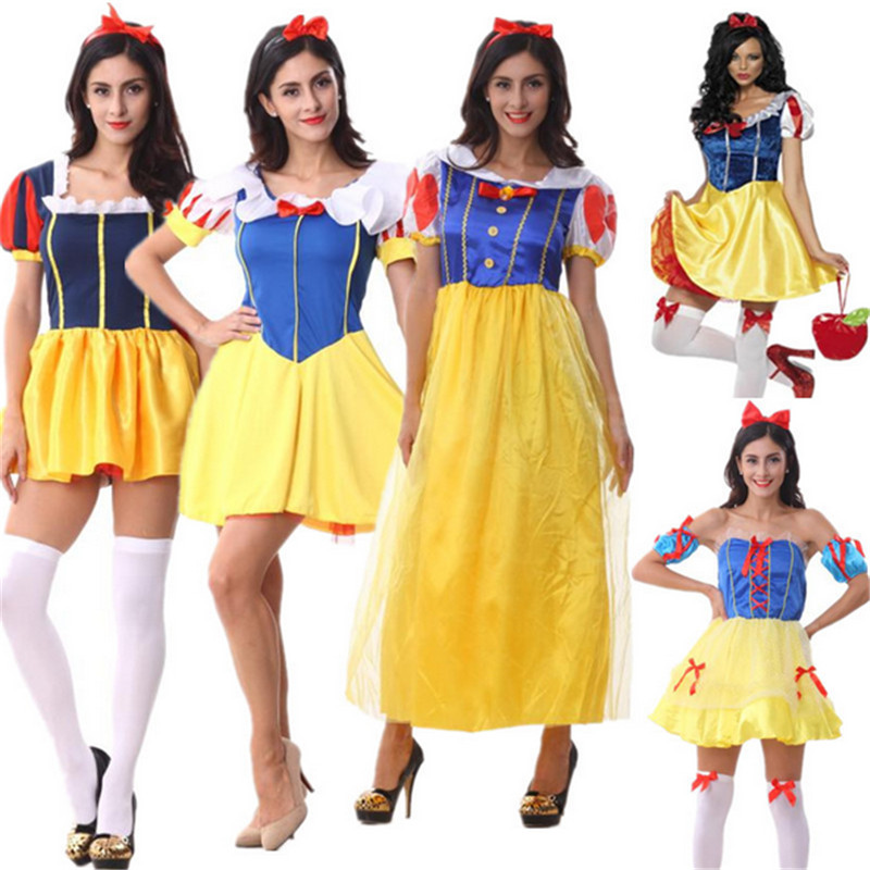 New Adult Snow White Halloween Costume high quality Sexy Snow White Costume Fantasia Halloween Costumes For Women Princess Dress