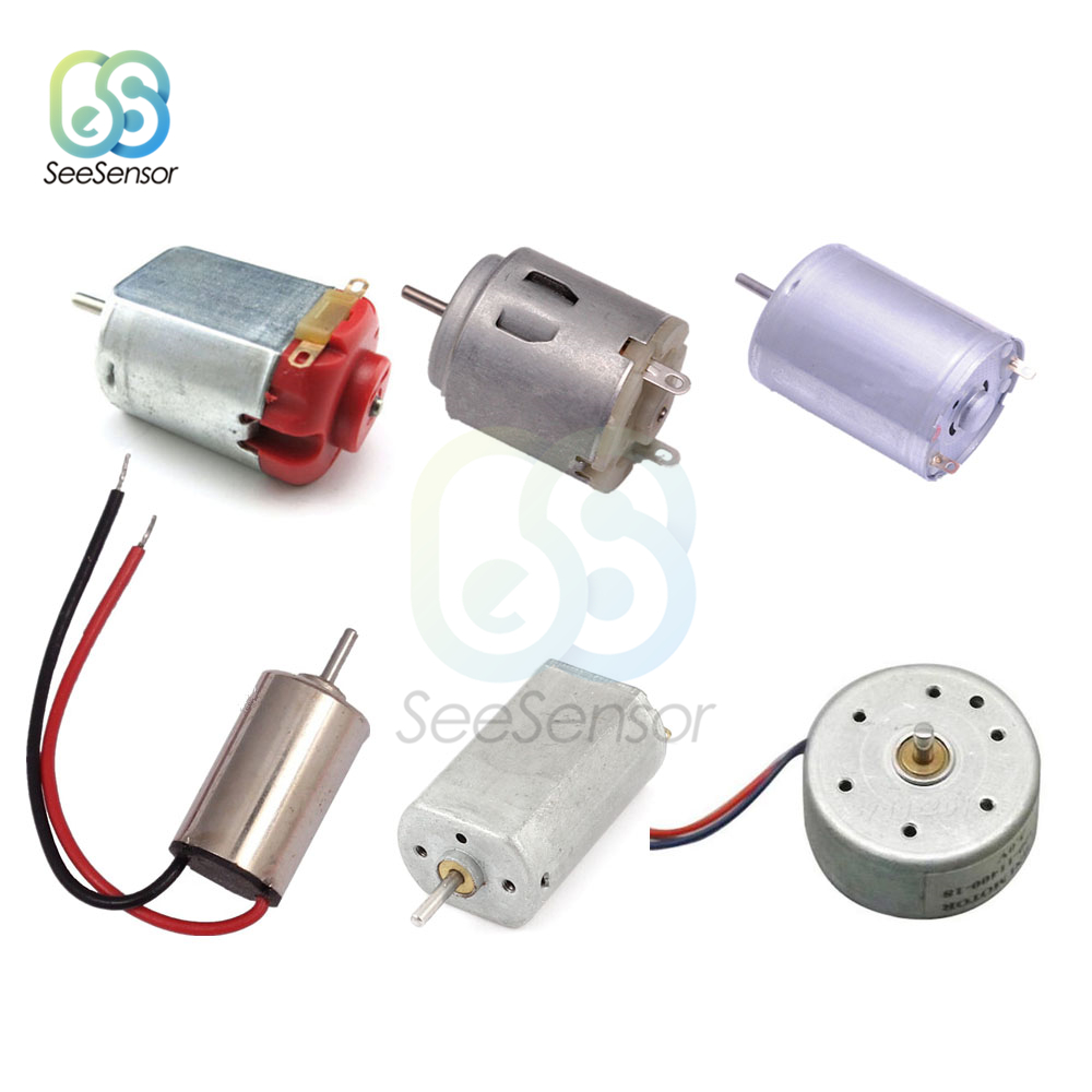 DC 1.5V 3V Mini Micro DC Motor for DIY Toys Hobbies Smart Car Motor 130 180 300 370 380 610 612 614 716 720 Hobby Gear Toy Motor