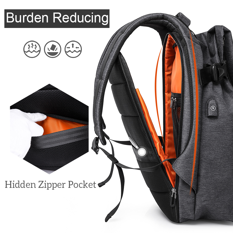 USB port waterproof backpack 5