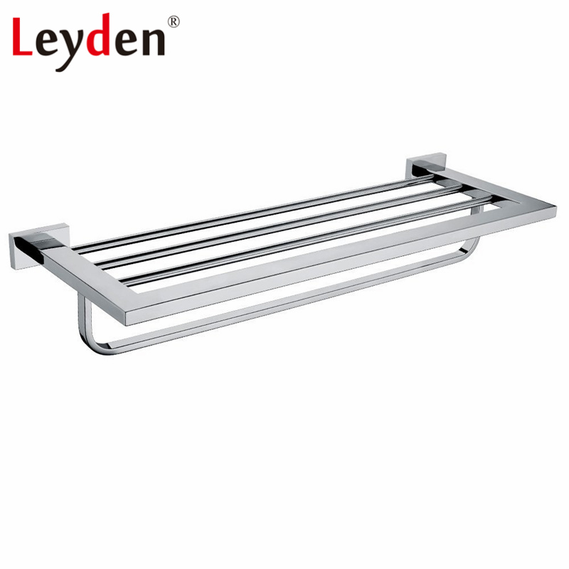 Leyden 304 Stainless Steel Towel Rack Bathroom Accessory Towel Hanger Chrome Wall Mounted Towel Rack Holder Bathroom Hardware leyden bathroom towel rack holder wall mounted black towel rack shelf stainless steel modern towel rack bathroom accessories