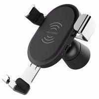 Car Mount Caricatore Senza Fili Qi QC3.0 Caricatore Rapido Fast Charger Car Holder Stand per iPhone Samsung S8 Xiaomi Smart Phone