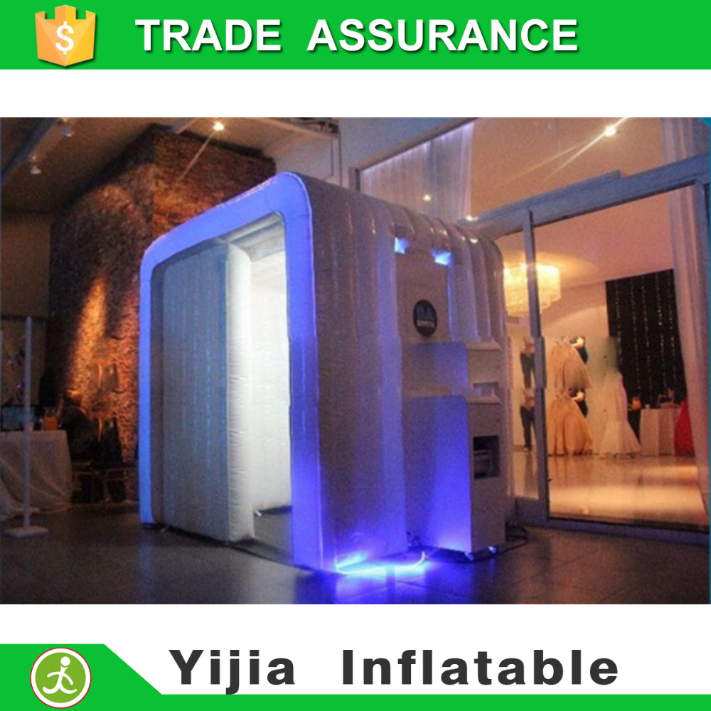 Color booth online - Color Changes Custom Led Lighting Portable Inflatable Photo Booth Air Booth