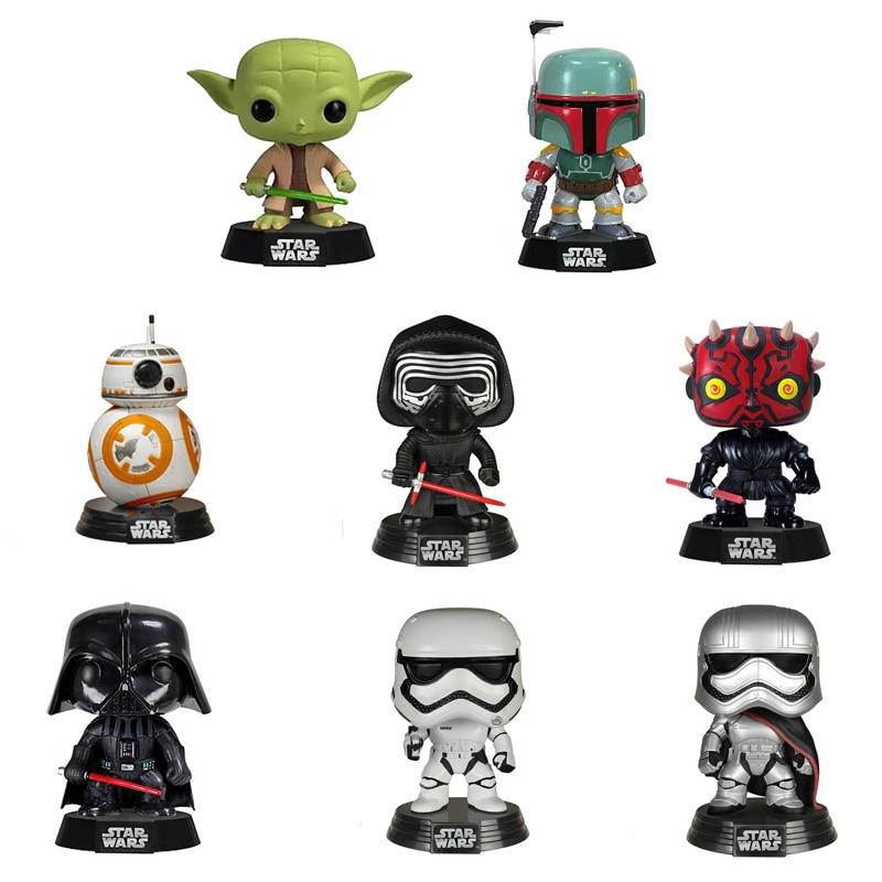 NOUVEAU 10 cm Star War Darth Vader KYLLO REN YODA PHASMA DARTH MAUL BB-8 Figurine Bobble Head Q Édition Pour la Décoration De Voiture