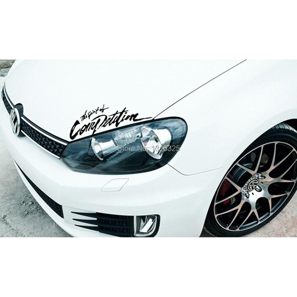 Aliauto The Spirit Of Competition Car Sticker Decal For Volkswagen Polo GTI Golf 4 5 6 7 Passat b5 B6 b8 Jetta tpuranTiguan