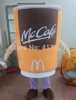 Custom made costumi della mascotte della coppa del caffè tazza costume per adulti
