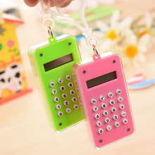 creative calculator mini calculator 8 bit display plastic portable calculator