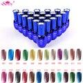 48 Color Metal Efecto Espejo Esmalte de Uñas de Gel UV Gel Esmalte de Uñas Empapa de Pulimento de Clavo ZX: JY003
