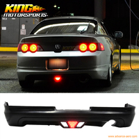 For 2002 2004 Acura RSX Coupe 2Dr Mug Style Rear Lip With Led Brake Light