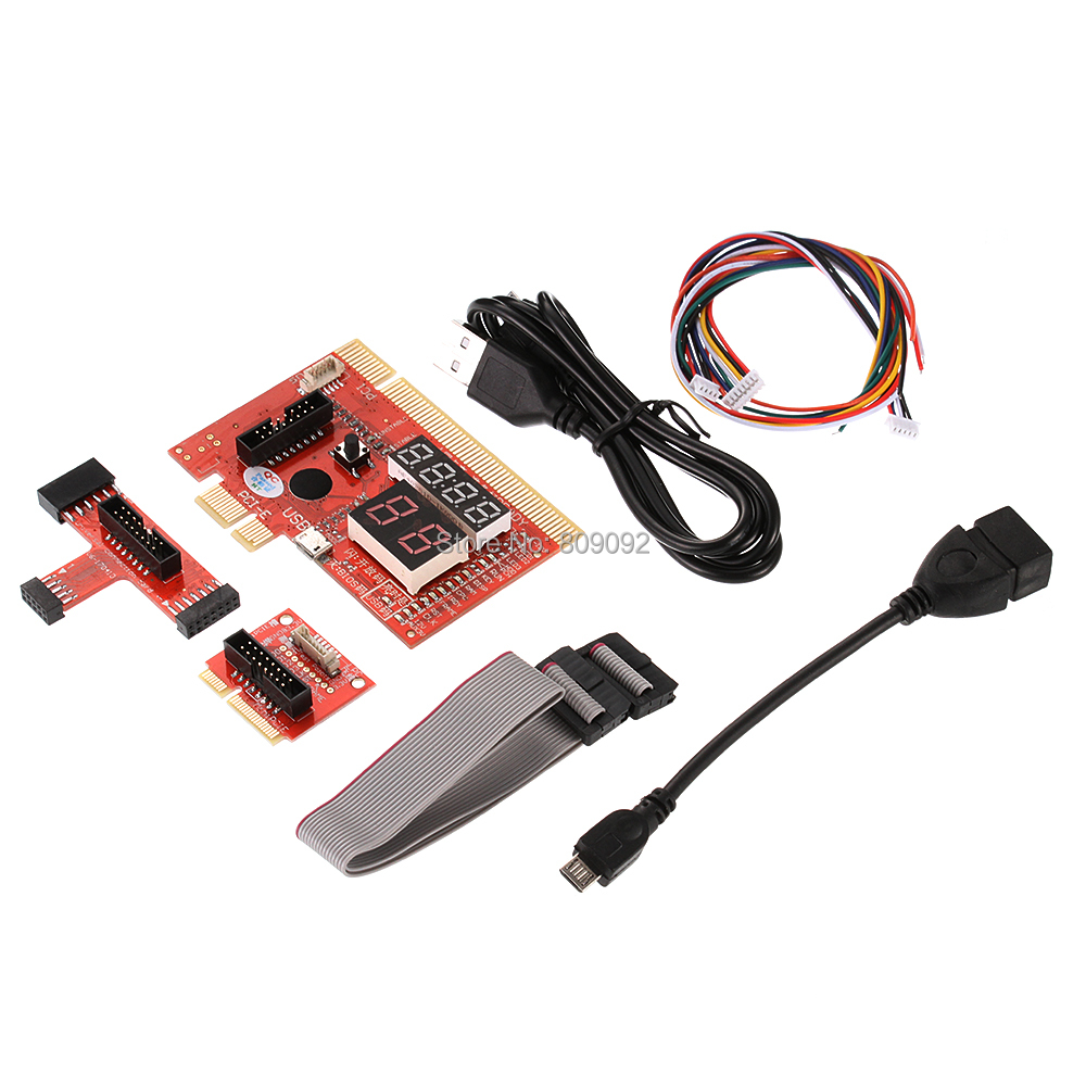 USB/PCI/PCIE/MiniPCIE/LPC/EC Computer Motherboard Diagnostic Analyzer Tester Card For PC Notebook