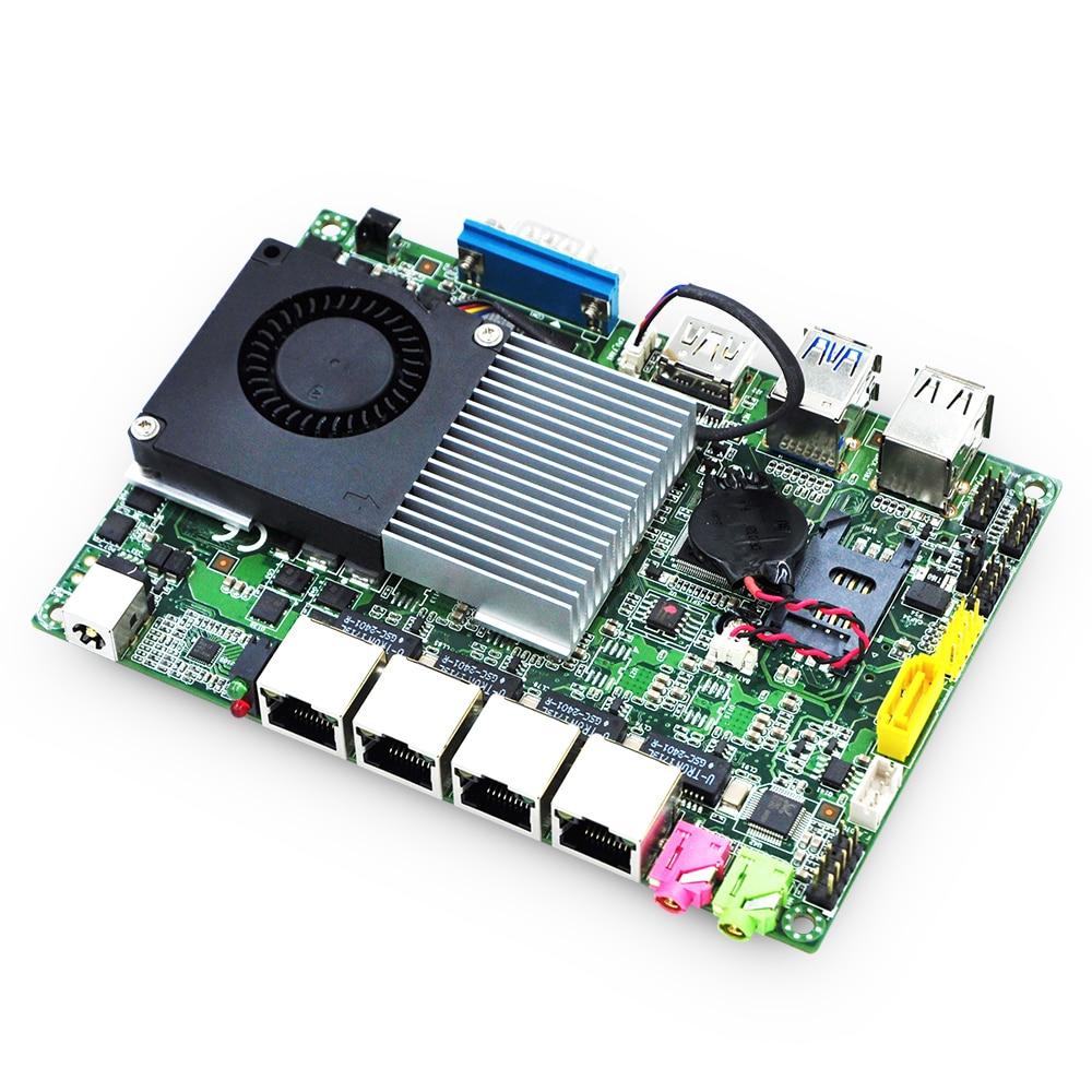 Qotom 4 Gigabit LAN Mini PC Q355G4 Motherboard Processor core i5-5250U 3M Cache, 1.60 GHz, Pfsense Router board 4 lan board 4 lan firewall motherboard 4 lan router motherboard