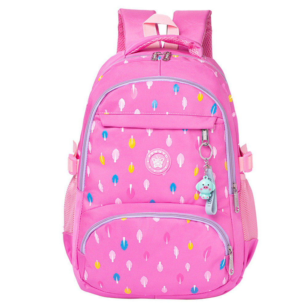 Lovely Pink School Bags For Girls Schoolbag Large Capacity Lady Printing Backpack Nylon Casual Rucksack Kids Book Bag Mochilas