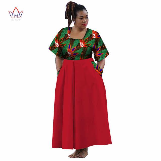 African Dresses Half Sleeve Sexy Dress With Pocket Maxi Dress Women Dashiki  African Print Wax Women def63019b3f4