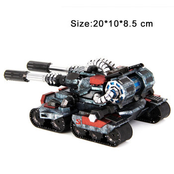 Colorful Apocalypse Tanks High-quality 3D Metal Puzzle Model Educational Collection Birthday Gift Jigsaw Adult Kids Manual Toys