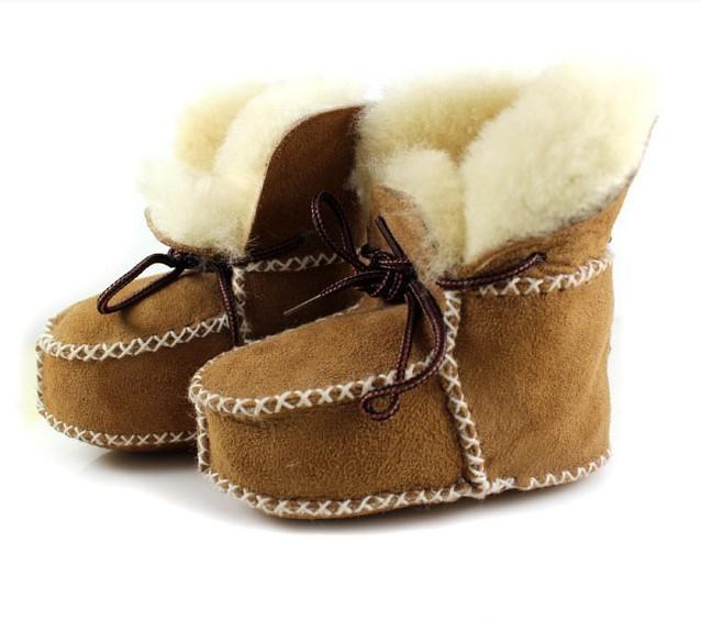 2014 bebé botas de invierno, caliente de alta calidad de piel de oveja zapatos de bebé, baby girl & baby botas botas de niño