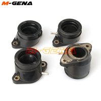 4pc Rubber Motorcycle Carburetor Carb Intake Interface Adapter Connector Pipe Manifold For XJR1200 95 99 XJR1300 98 06