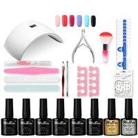 Professional UV Gel Nail Polish Set Nail Set Tool Nails LED UV Lamp Nail Art Manicure
