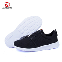 ALDOMOUR New Men Women Light Mesh Running Shoes Super Cool Athletic Sport Shoes Comfortable Breathable Men