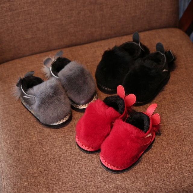 Warm Genuine Leather Anti-slip Thermal Baby First Walker Baby Shoes Baby Boots Newborn Shoes Soft Infants Shoes Sneakers