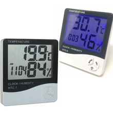 Weather Station HTC-1/HTC-8 Indoor Digital Thermometer Hygrometer Wall Hanging Electronic Temperature Humidity Meter Alarm Clock