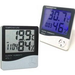 Wetter Station HTC-1/HTC-8 Innen Digitale Thermometer Hygrometer Wand Hängen Elektronische Temperatur Feuchtigkeit Meter Wecker