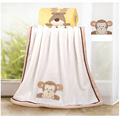 Super Soft Fleece Baby Blanket Infant Crib Bedding Cartoon Monkey Rabbit Bear Blanket Newborn Gift 76*102cm Coral Fleece Blanket