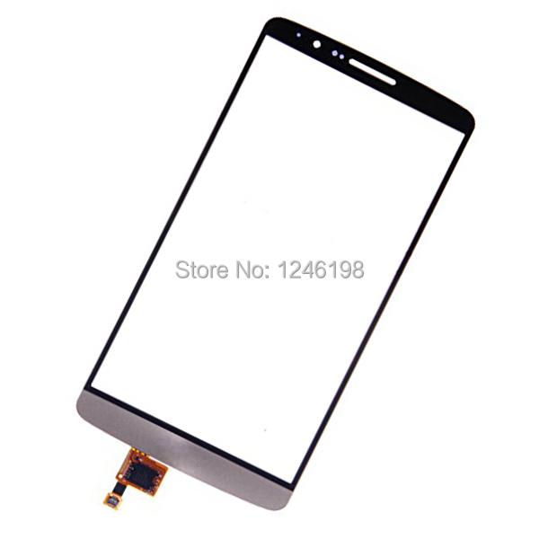 Genuino pantalla táctil digitalizador para el LG G3 D850 D851 D855 VS985 LS990 frontal exterior de cristal del Panel reemplazo envío gratis