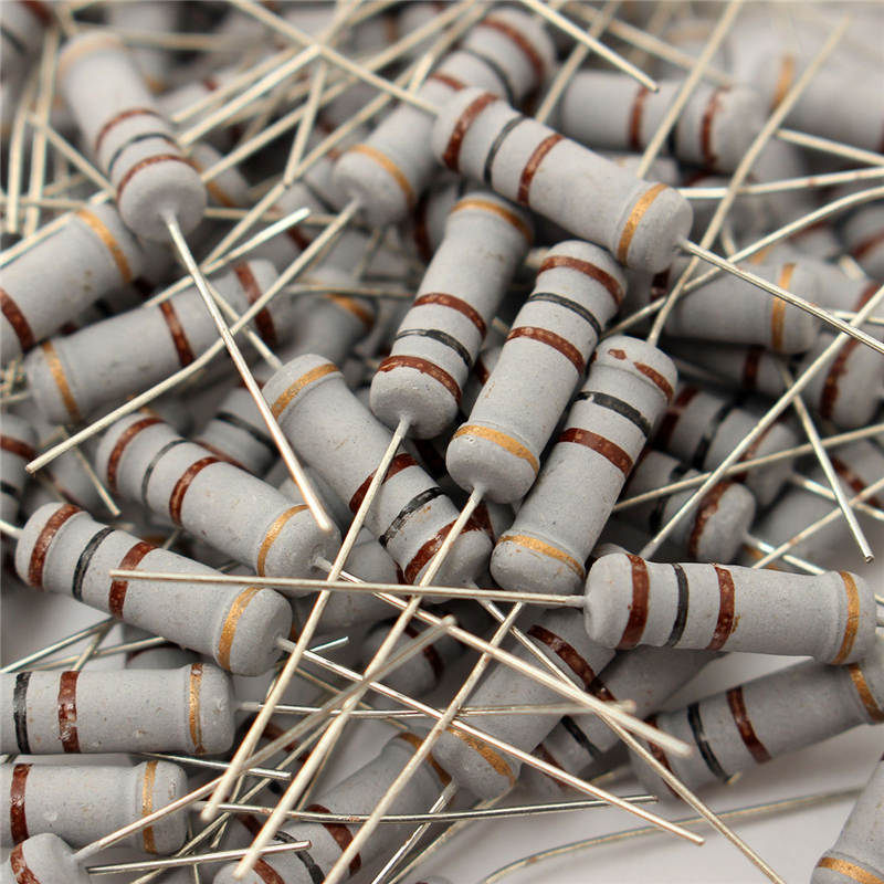 2017 Hot Sale 100pcs 2W 100Ohm 100R 5% Aluminum Electrolytic Capacitors Carbon Film Resistor Assortment Kit 15mm X 5mm Hot Sale