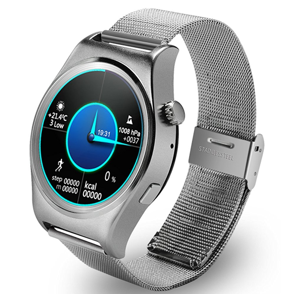 Smart Electronic Watch with Full Circle Display Smartwatch Bluetooth Gauge Tracker Heart Rate Monitor IOS Android Fitness Clock цена