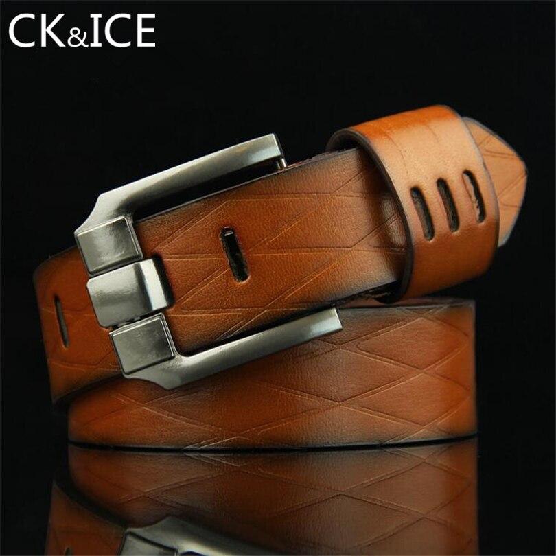 CK&ICE 2018 Brand New Designer Belts Men High Quality Belt Waist Strap Fashion PU Leather Waistband Casual White Jeans