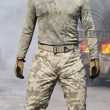 Hunting Camouflage Army Military Pants Man Hiking Camping Camo Pants Men Outdoor Tactical Trousers Sports Leggings Pants