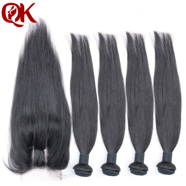 6A Peruvian Virgin Hair Silk straight 4 bundles with lace closure Unprocessed Human Hair Weave Peruvian Virgin Hair Straight
