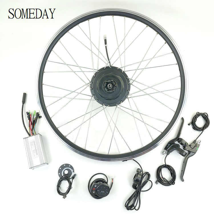 SOMEDAY 36V500W electric bicycle conversion kit 16 20 24 26 27.5 28 700C 29 front wheel hub motor with spoke and rim