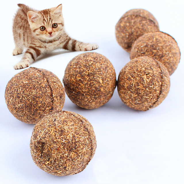 New 20g Pet Cat Catnip Ball Kitty Favorite Dietary Aid kitten Mint Grass Small Chew Ball Toys Cat Supplier Free Shipping