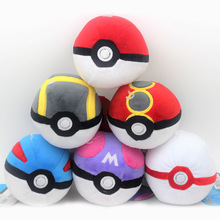 6 Styles Pokeball High Quality Cute 12CM Plush Toys Cartoon Anime Stuffed Dolls Children Birthday Gift