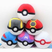 Muñecos de peluche de Pokeball para niños, juguete de dibujo animado de alta calidad, 6 estilos, 12CM