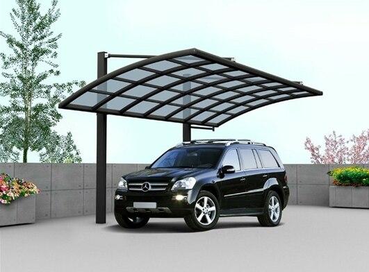Aluminum Car Canopy : Luxury aluminium garden carport car shelter canopy