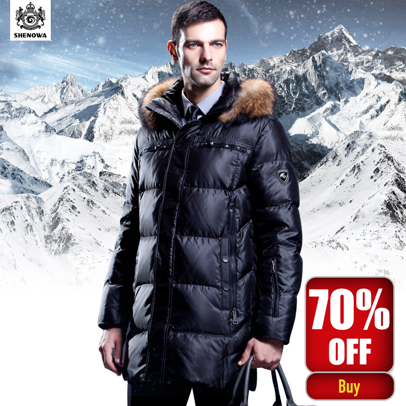 Clothing Jackets Business long thick Down jacket, luxury raccoon ...