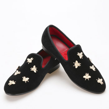 velvet butterfly buckles Men's Shoes Wedding Banquet  Men casual shoes zapatos hombre