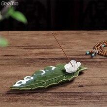 Ручная работа Лотос керамическая палочка курильница Творческий Joss палочки с ладаном держатель ручной работы кадило-ароматерапия держатель для благовоний