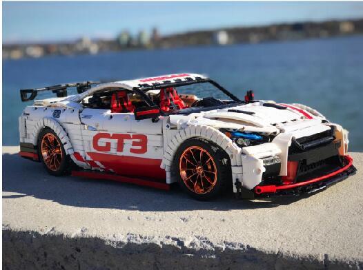 Technic MOC серия гоночный автомобиль Nissan технология 25326 кирпичи Модели Строительные наборы Блоки Игрушки для мальчиков подарок